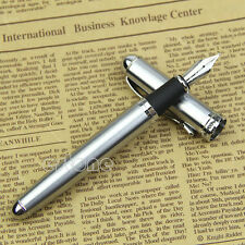 Jinhao X750 Silver Medium 18KGP Nib Fountain Pen Stainless Steel Hot