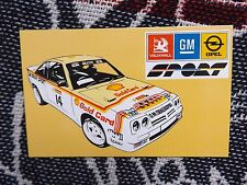 RALLY POSTCARD - SHELL GOLD CARD OPEL MANTA 400 - BERTIE FISHER LIVERY