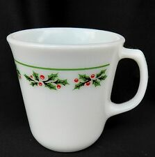 CORELLE CORNING HOLLY DAYS CHRISTMAS COFFEE MUG CUP(S) PYREX