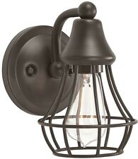 Rustic Wall Sconce Single Cage Light Fixture Bathroom Vanity Bronze Industrial