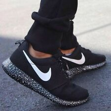 Nike Roshe run black with white speckle Size 10 UK BNIB Uk Stock in Original Box