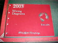 2003 FORD ESCAPE WIRING DIAGRAMS MANUAL GAS MODELS mint