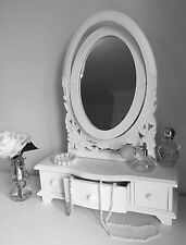 White ADJUSTABLE DRESSING TABLE MIRROR French style belgravia shabby / chic