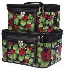 Ladybug Train Case Set World Traveler 2-Piece Cosmetic Make-Up Travel