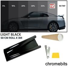 CAR OFFICE HOME TINTING WINDOW TINT FILM KIT LIGHT BLACK 50% 50 X300CM