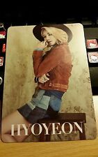 Snsd hyoyeon Japan tour jp official big photocard k-pop