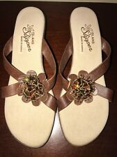 ISLAND SLIPPER HAWAII WOMENS SANDALS Size 10 Spring Slip on Beach Shoes
