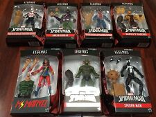8X ACTION FIGURE LOT NEW 2017 AMAZING SPIDER-MAN Marvel Legends SET BAF SANDMAN