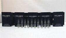 Dolce & Gabbana D&G Pour Homme Men's EDT .05 oz 1.5 ml Splash Vials New x 10 PCS
