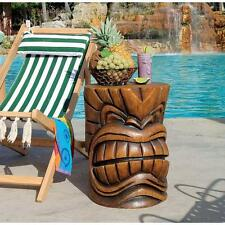 Tropical Polynesian Style Tiki Teeth Exotic Pool Sculptural Accent Table