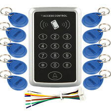 Electric Door Lock Access ID Card Reader Password System Control + 10 keyfobs US