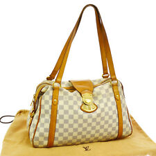 AUTHENTIC LOUIS VUITTON STRESA PM SHOULDER TOTE BAG DAMIER AZUR N42220 BT12318