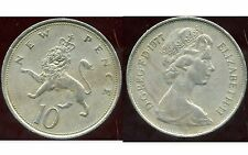 ROYAUME UNI  10  new  pence 1977  ANM  ( bis )