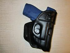 S&W M&P SHIELD 9MM & 40 CAL. WITH CRIMSON TRACE LASER owb leather belt holster