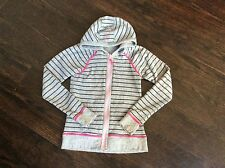 LULULEMON IVIVVA born to dance hoodie grey and black stripe reverses to grey 10