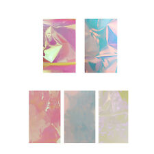 5 Candy Colors Broken Glass Stickers Foils Finger DIY Nail Art Stencil Decal