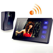 "New 7"" Wireless Video Door Phone Doorbell Intercom with Waterproof IR Camera hot"