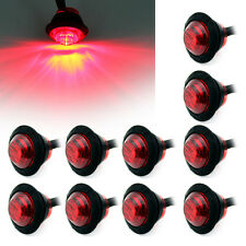 "10x 3/4"" Round Red LED Bullet Boat Truck Trailer Side Marker License Light 12V"