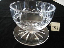 """WATERFORD IRELAND """"LISMORE"""" DESSERT/GRAPEFRUIT FOOTED BOWL,3 1/4 H, PRICE IS EA"""