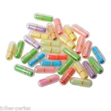 30PCs Plastic Pill Shaped Container Valentine's Gift Love Letters Wish Bottle