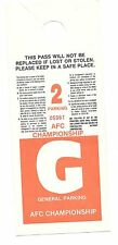 Miami Dolphins AFC Championship Parking Pass