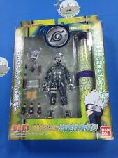 Naruto BANDAI 2003 KAKASHI HATAKE Ninja Action Figure with Scroll NRFB