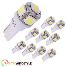 10x XENON PURE WHITE 5 SMD LED SIDELIGHT / INTERIOR BULB T10 W5W 501 6000K 6K
