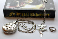 Fullmetal Alchemist Pocket Watch+Necklace+Ring Cosplay 2 Styles Free Shipping