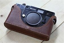 Leather Zeiss Ikon SW /ZM Dark Brown Half Case - BRAND NEW