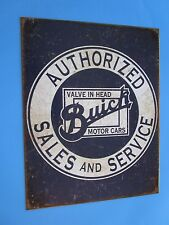metal tin auto classic car gm buick dealer authorized sales service 2071