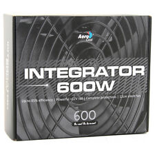 AeroCool Integrator 600W 85+ PC Gaming Power Supply 120mm Fan Active PFC PSU