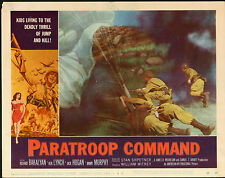 PARATROOP COMMAND original 1959 WW2 movie poster PARACHUTING/SKY DIVING