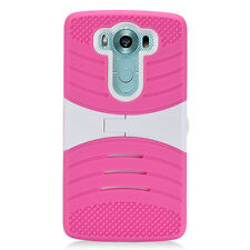 For LG V10 Rugged Armor Hybrid Case Cover with Kickstand Accessory