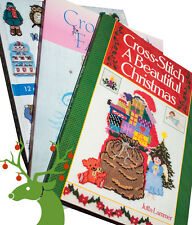 3 X Cross Stitch books Christmas, Fairies and Bumper Cute Cross Stitch
