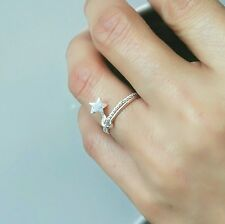 925 sterling silver ring star ring double circle ring lucky love present lovely