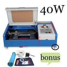 300MM*200MM 40W CO2 USB Laser Engraving Cutting Machine Engraver Cutter