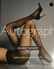 M&S Autograph HI HEEL HOSIERY.7App/ Invis/Cushioning.Bare Cooling Tights NTan Sm