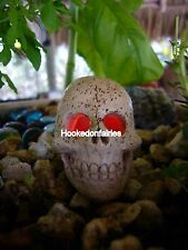 Miniature  LED Light up Skull FA83  color changing Fairy Garden Dollhouse