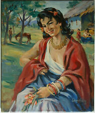 Bildnis einer Zigeunerin - unleserlich signiert - ????ay