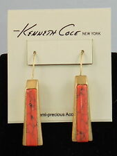 Kenneth Cole Goldtone CORAL CANYON Semi-Precious Inlay Linear Drop Earrings $32