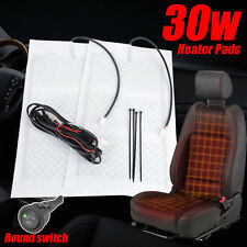 1seat Universal Car Carbon Fiber Heated Seat Heater Pad H/L Round Switch Kit