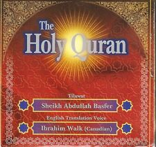 COMPLETE QURAN 38  Audio CD's with ENGLISH TRANSLATION BY Sheikh Abdullah Basfar