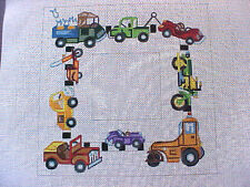 Needlepoint Hand Stitch Painted Canvas Elizabeth Turner Collection Boys Toys