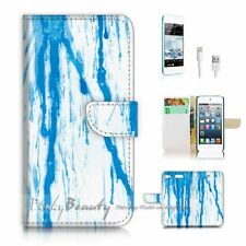 iPod Touch 6 iTouch 6 Flip Wallet Case Cover! P0478 Blue Drop