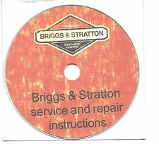 Briggs and Stratton small engine service and repair manual book on  CD-ROM