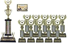 FIRST TIME CAR SHOW AWARD SMALL TROPHY PACKAGE 2B TOP 10 CAR SHOW AWARDS