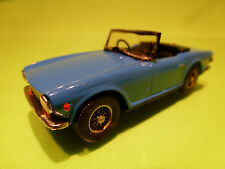 AUTO REPLICAS METAL BUILT KIT TRIUMPH TR 6 TR6 - BLUE 1:43 - EXCELLENT CONDITION