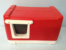 IGLOO OUTDOOR CAT HOUSE CAT BED CAT SHELTER RED WEATHER PROOF