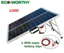 120W 18V Portable Folding Solar Panel Kit Solar Energy Charger Battery Caravan
