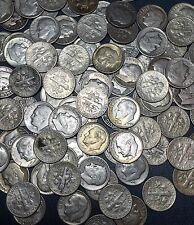 Roosevelt Silver Dimes Lot Of (5) 90% Silver Dimes Unc/Xf/Vf/F ( 1946-64 )
